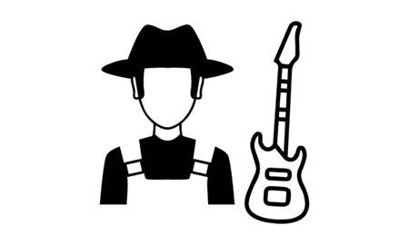 Musicians icon Ilustración de vector