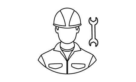 Technician isolated icon design vector image