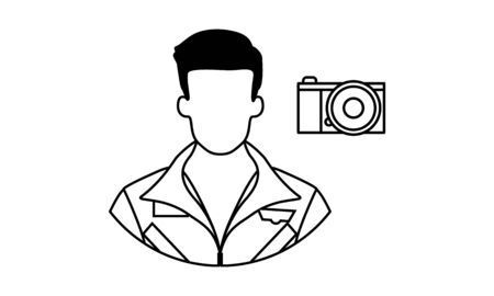 photographer icon.Element of popular camera icon. Premium quality graphic design. Signs, symbols collection icon for websites, web design, on white background