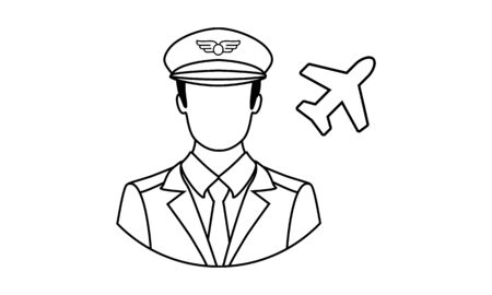 Pilot icon in simple style on a white background illustration