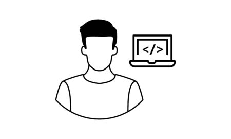 Programmer icon. Creative element design from programmer icons collection. Pixel perfect Programmer icon for web design, apps, software, print usage