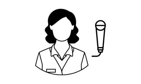 News reporter isolated icon design vector image Ilustracja