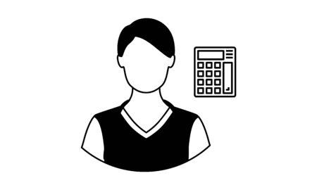 Accountant vector icon - vector