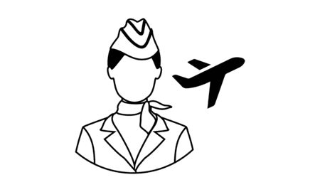 Air hostess icon isolated air hostess icon from vector image