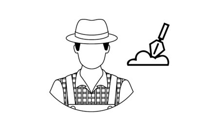 archeology concept line icon. Simple element illustration. archeology concept outline symbol design from Science set. Can be used for web and mobile UIUX Çizim