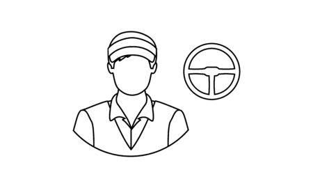 Car driver icon vector image