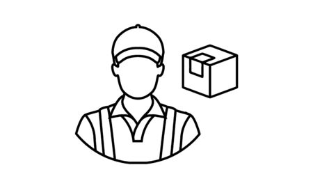 delivery man icon vector