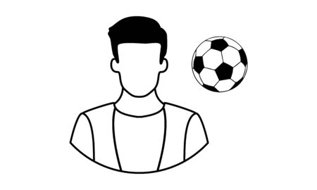 football player vector icon Иллюстрация