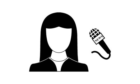 news anchor icon. Element of Media, Press for mobile concept and web apps icon. Glyph, flat icon for website design and development, app development