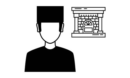 Doorman simple icon for websites, web design, mobile app, info graphics Stock fotó - 140232033