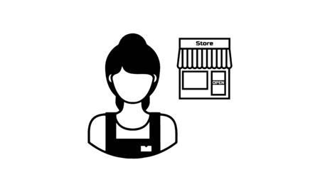 storekeeper icon vector on white background, storekeeper trendy filled icons from Humans collection, storekeeper simple element illustration
