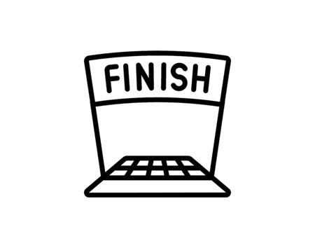 Finish flag icon simple style vector image