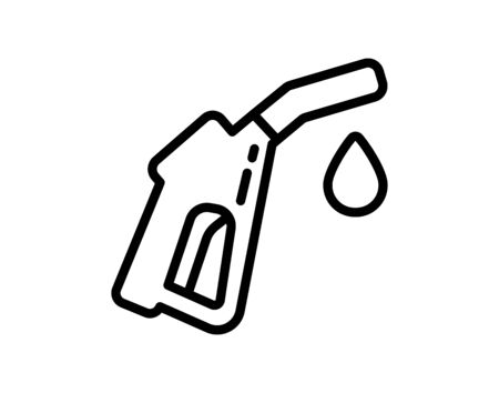 Gasoline pump nozzle sign.Gas station icon. Flat design style. - Vector