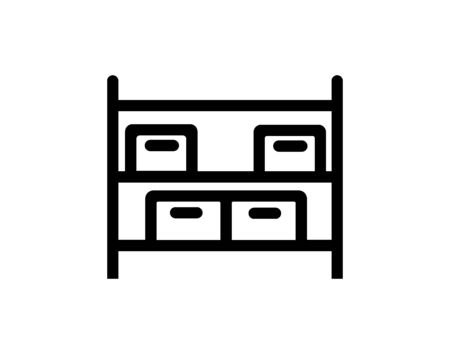 Pile boxes carton in shelf delivery icon vector image