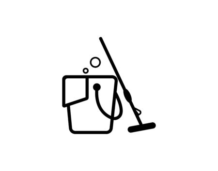 Cleaning icon vector image Ilustracja