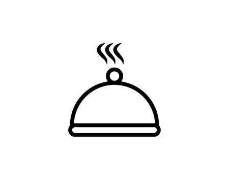 Dinner icon vector illustration flat style graphical symbol. Ilustracja