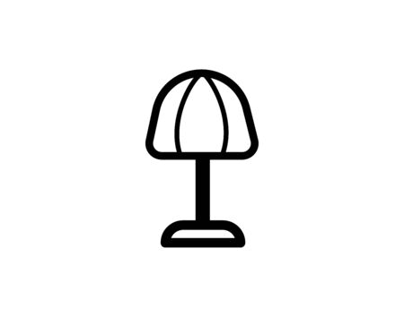 Desktop lamp, table lamp icon in trendy glyph style design. Vector graphic illustration. Lamp icon for website design, logo, and ui.