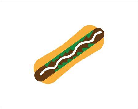 Hot dog Icon Isolated on White Background