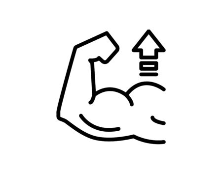 Strong muscles icon. Vector Vettoriali