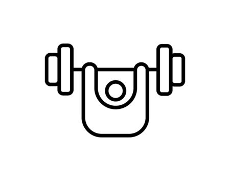 Dumbbell in hand icon Ilustracja