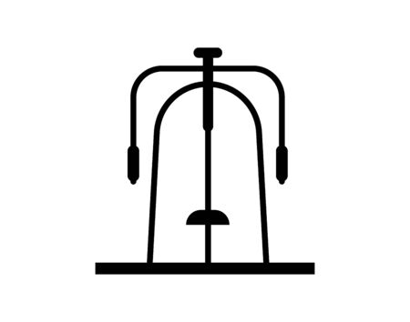 gym station icon vector on white background, gym station trendy filled icons from Gym equipment collection, gym station simple element illustration Ilustracja