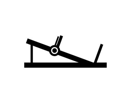silhouette press legs sport machine gym design