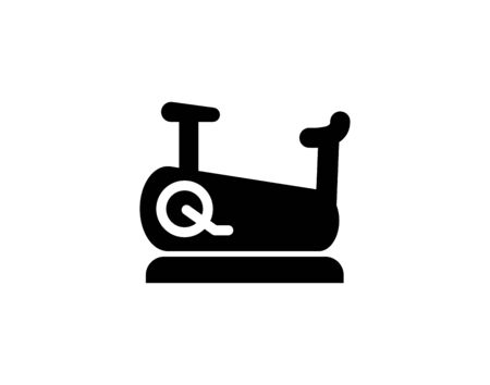 Stationary bicycle, Exercise Bike line icon, outline vector sign, linear pictogram isolated on white. logo illustration
