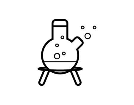 Best laboratory chemical beaker icon on white background - Vector Illustration