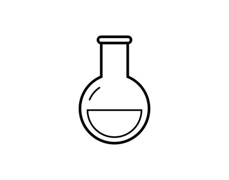Flask vector icon. Illustration isolated for graphic and web design.