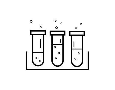 Test tube vector icon - Vector