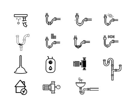Floor drain or drainage equipment vector icon set. - Vector Stock Illustratie