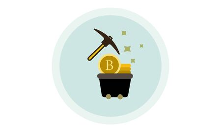 Proof of work icon. Trendy Proof of capacity logo concept on white background from Cryptocurrency economy and finance collection. Illustration