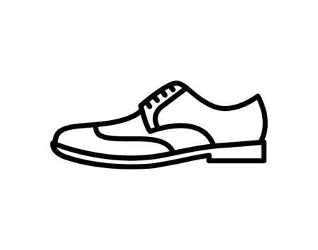 Mens dress shoe icon. Silhouette. Vector illustration logo. - Vector