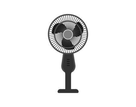 Standing Electric Fan in Flat Design - Vector Vektorové ilustrace