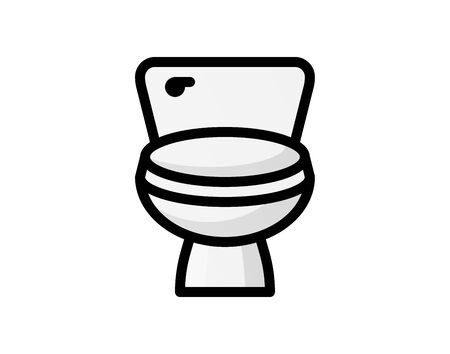 toilet icon. Bathroom and sauna element icon. Premium quality graphic design. Signs, outline symbols collection icon for websites, web design, mobile app, info graphics on white background - Vector