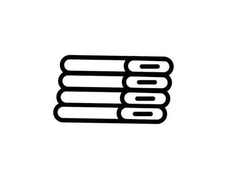 Rolled up spa towels line icon. - Vector Illustration