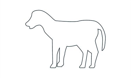 Dog vector icon flat style graphical symbol. Illustration