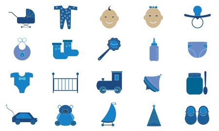Trendy flat icon pack for designers and developers. Vector baby icon set.