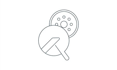 Bobbins icon. Sewing machine part. Isolated vector illustration