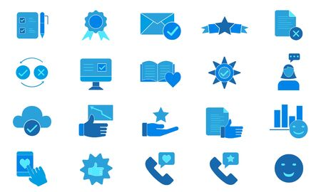 Opinions vector icon pack. Illustration isolated for graphic and web design.