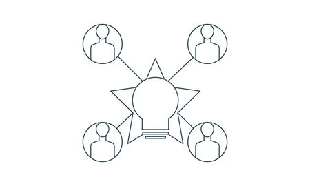 Crowd sourcing icon . Four elements in different styles from content icons collection.