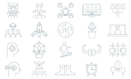 Life Coaching vector icon set. Premium quality graphic design icon.