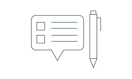 Thin line chat speech comment chatting icon vector image