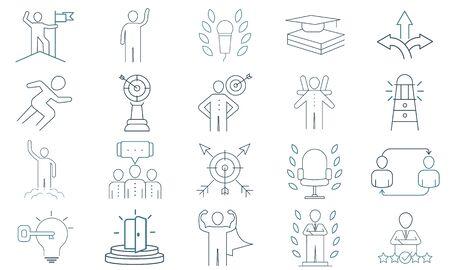 Life Coaching vector icon set. Premium quality graphic design icon.