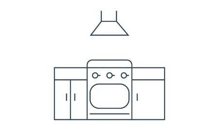 Kitchen icon flat style graphical symbol.