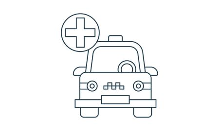 Emergency taxi service icon vector illustration.