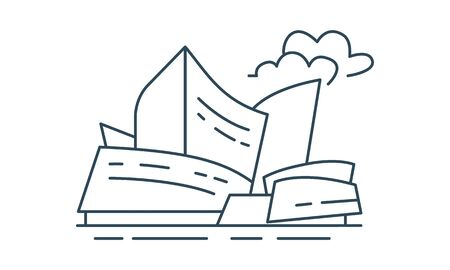 Buildings icon architecture symbol vector image