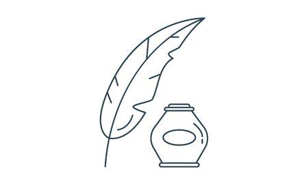Calligraphy pictogram logo icon vector image