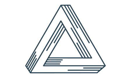 optical geometric illusion penrose square icon. 向量圖像
