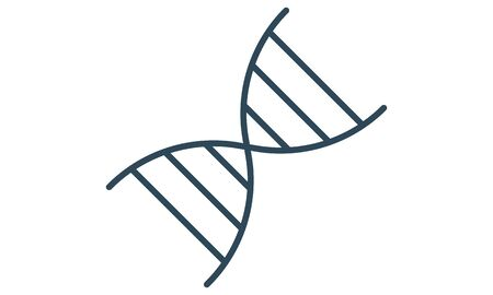 The dna icon. DNA symbol. Flat Vector illustration Vettoriali